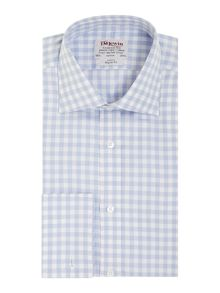 TM Lewin Block Check Classic Fit Long Sleeve Formal Shirt