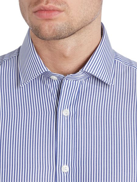 TM Lewin Bengal Stripe Fully Fitted Long Sleeve Shirt
