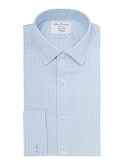 Gingham Fitted Long Sleeve Formal Shirt