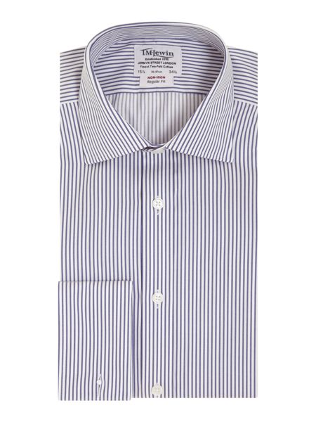 TM Lewin Stripe Classic Fit Long Sleeve Shirt