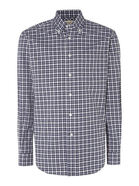 TM Lewin Country Check Classic Fit Long Sleeve Shirt