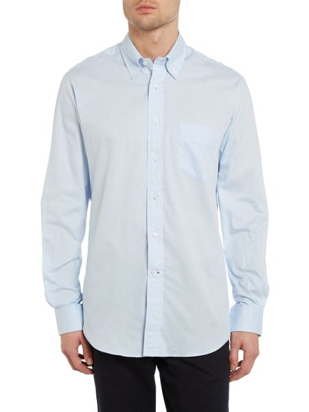TM Lewin Plain Classic Fit Long Sleeve Button Down Shirt