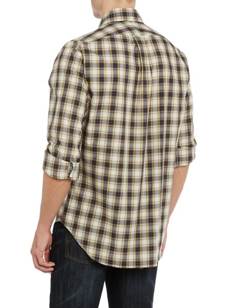 TM Lewin Check Classic Fit Long Sleeve Button Down Shirt