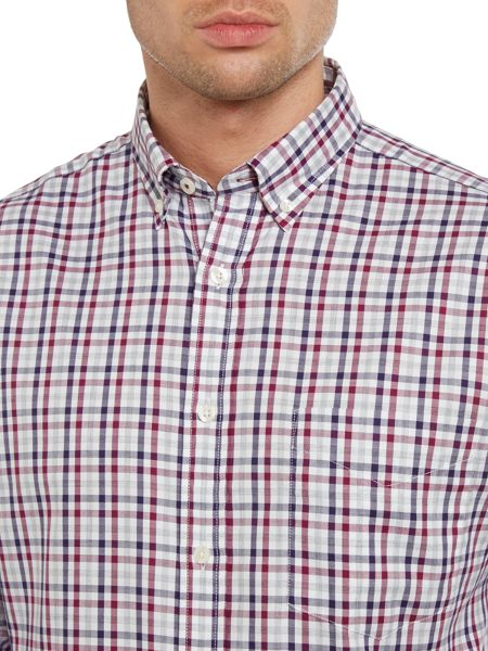 TM Lewin Country Check Slim Fit Long Sleeve Shirt