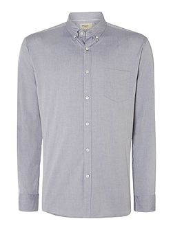 Plain Slim Fit Long Sleeve Button Down Shirt