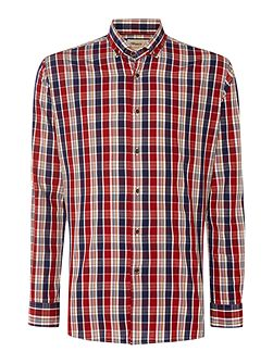 Check Slim Fit Long Sleeve Button Down Shirt