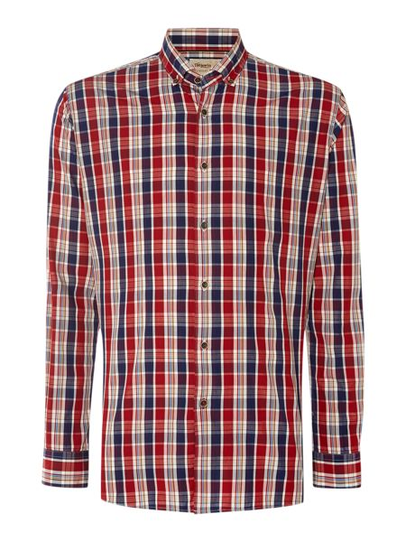 TM Lewin Check Slim Fit Long Sleeve Button Down Shirt