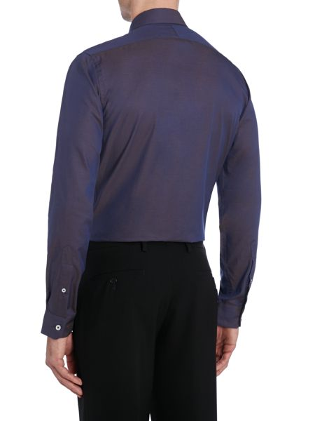 TM Lewin London Plain Fitted Long Sleeve Formal Shirt