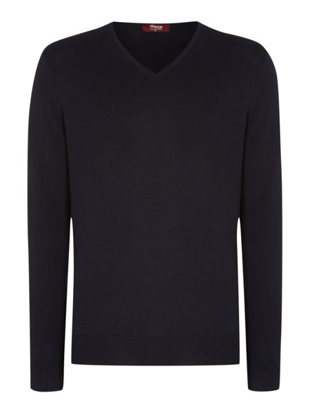 TM Lewin Plain V Neck Pull Over Jumper
