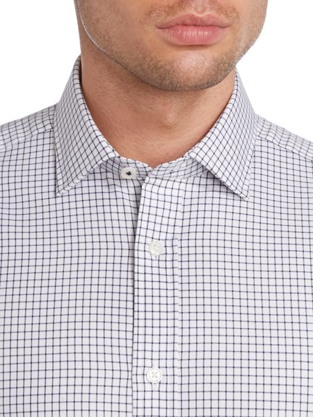 TM Lewin Check Fully Fitted Long Sleeve Formal Shirt