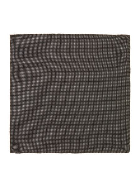 TM Lewin Black White Dash Pocket Square