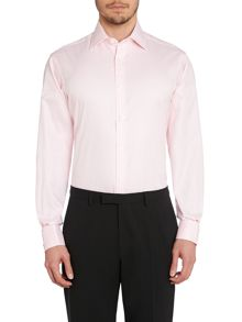 TM Lewin Twill Double Cuff Regular Fit Shirt