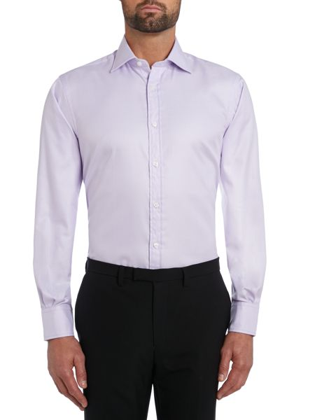 TM Lewin Plain Regular Fit Long Sleeve Formal Shirt