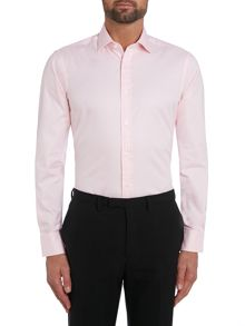 TM Lewin Plain Fitted Long Sleeve Classic Collar Shirt