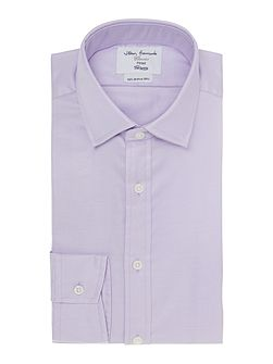 Plain Fitted Long Sleeve Formal Shirt