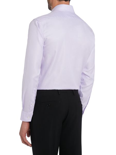 TM Lewin Plain Fitted Long Sleeve Formal Shirt