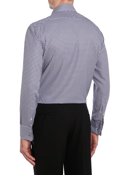 TM Lewin Gingham Non-Iron Slim Fit Formal Shirt