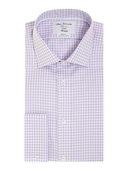 Gingham Non-Iron Fully Fitted Formal Shirt
