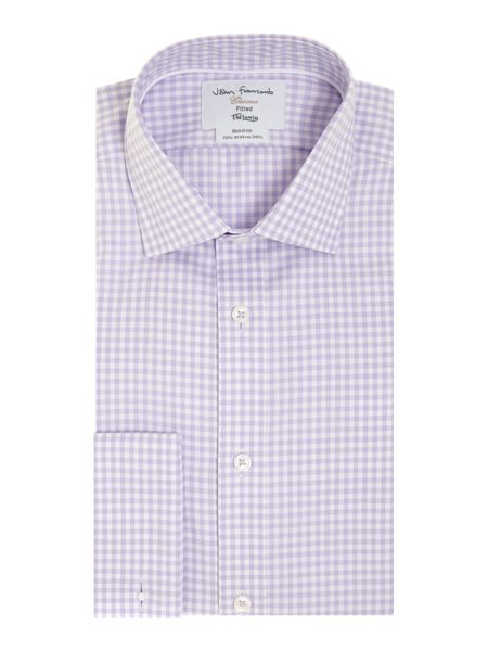 TM Lewin Gingham Non-Iron Fully Fitted Formal Shirt
