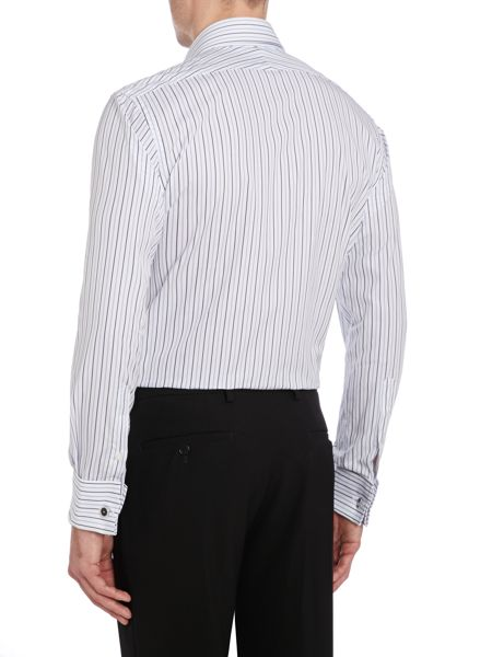 TM Lewin Stripe Slim Fit Long Sleeve Classic Collar Shirt