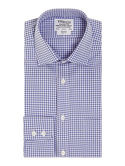 Gingham Check Slim Fit Long Sleeve Formal Shirt