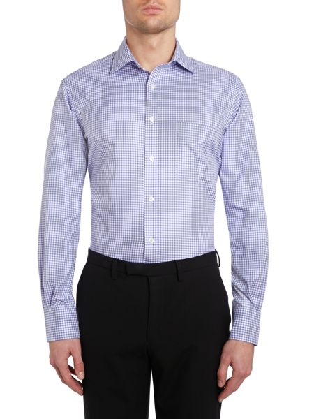 TM Lewin Gingham Check Slim Fit Long Sleeve Formal Shirt