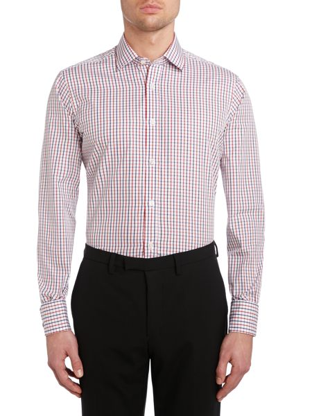 TM Lewin Check Slim Fit Long Sleeve Formal Shirt