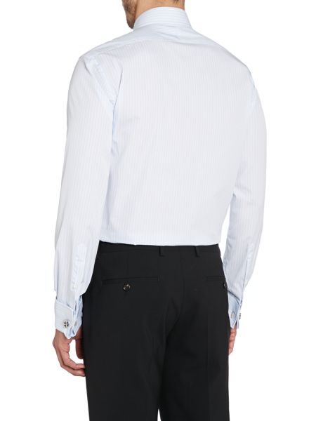 TM Lewin End-On-End Stripe Slim Fit Shirt