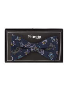 Paisley Print Patterned Bow Tie
