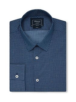 Print Fully Fitted Classic Collar Formal Shirt