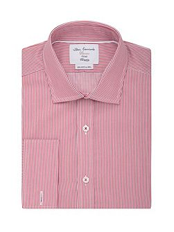 Stripe Fully Fitted Classic Collar Formal Shirt