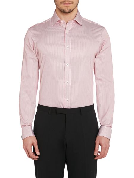 TM Lewin Stripe Fully Fitted Classic Collar Formal Shirt