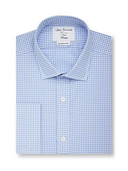 Gingham Fully Fitted Classic Collar Formal Shirt