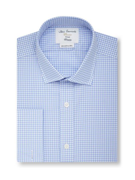 TM Lewin Gingham Fully Fitted Classic Collar Formal Shirt