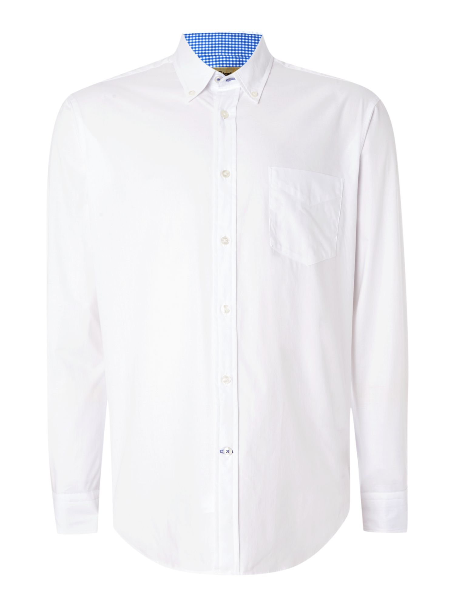 TM Lewin Men's TM Lewin Oxford Relaxed Fit Casual Shirt, White