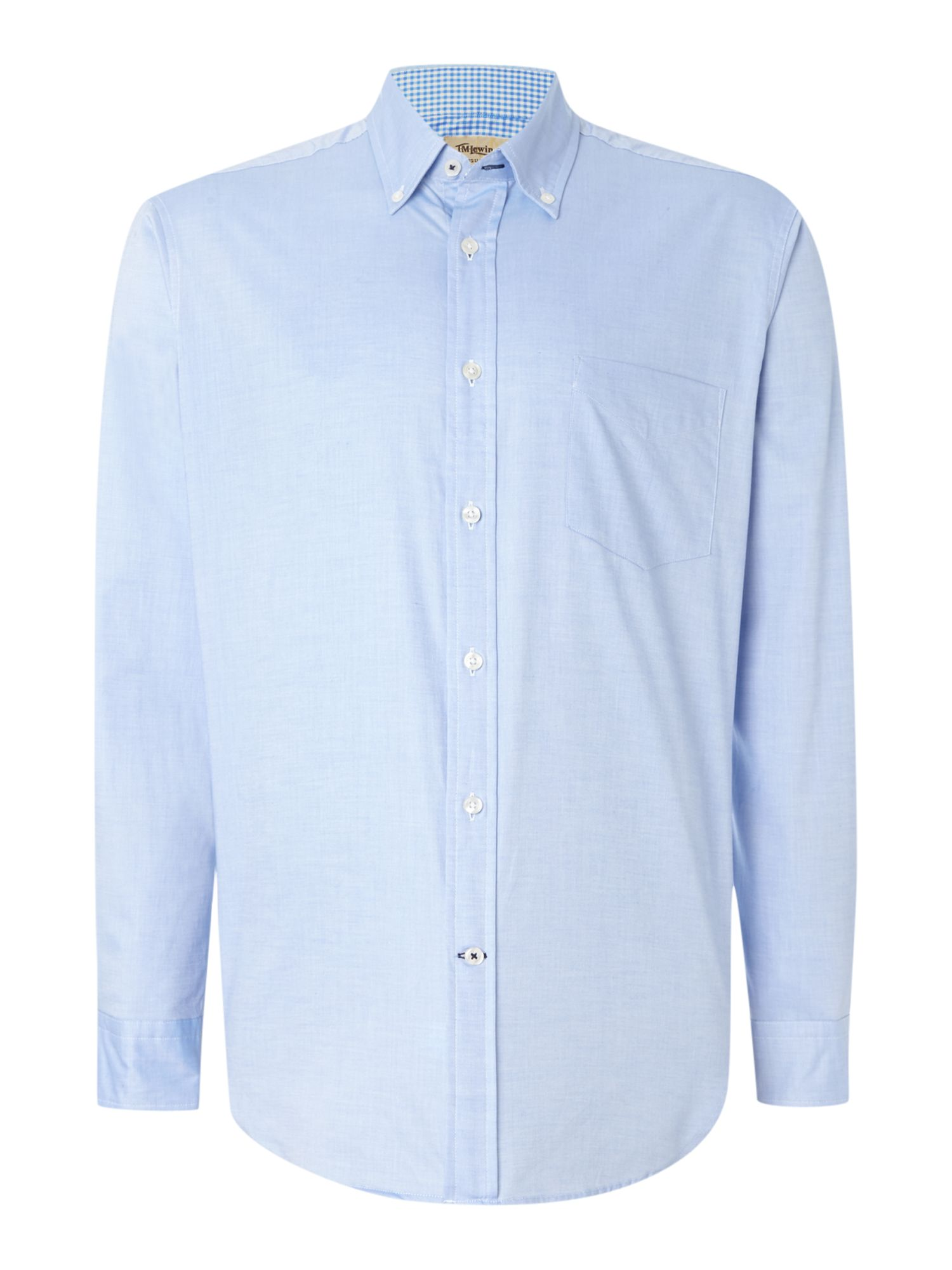 TM Lewin Men's TM Lewin Oxford Relaxed Fit Casual Shirt, Light Blue