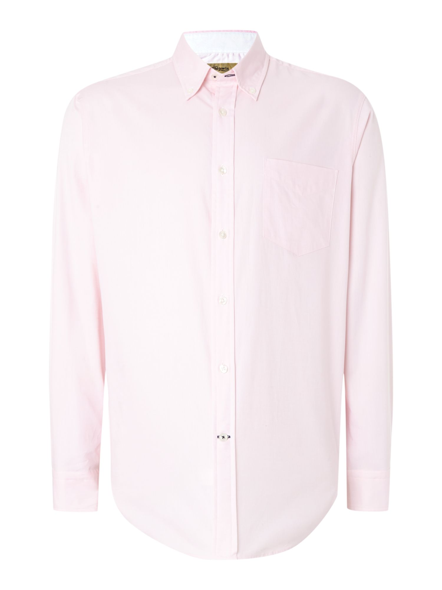 TM Lewin Men's TM Lewin Oxford Relaxed Fit Casual Shirt, Pink