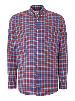 Poplin Graph Check Button Down Shirt