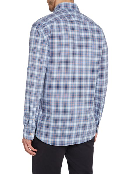 TM Lewin Poplin Check Casual Shirt