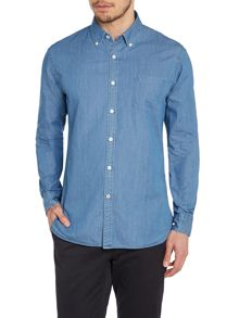 TM Lewin Denim Button Down Casual Shirt