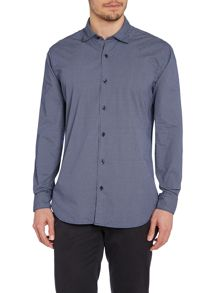 TM Lewin Cross Print Button Down Casual Shirt