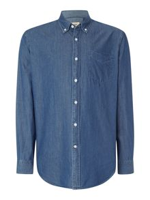 TM Lewin Denim Relaxed Fit Casual Shirt