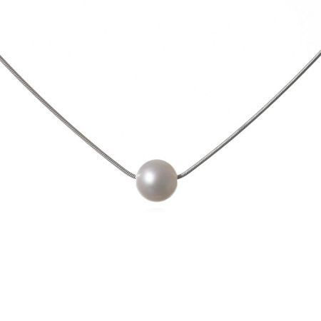Jersey Pearl White pearl pendant