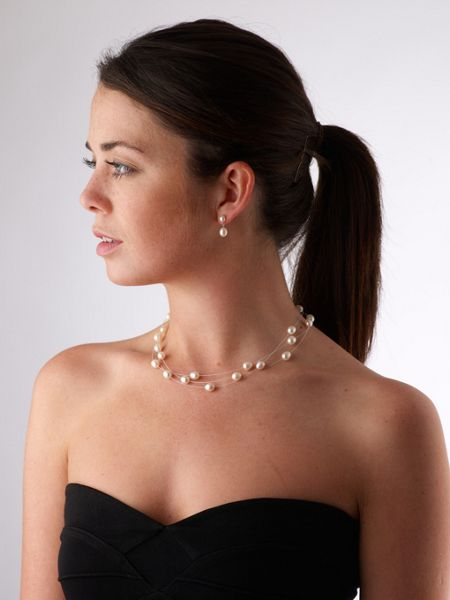 Jersey Pearl Dewdrop Pearl Necklace