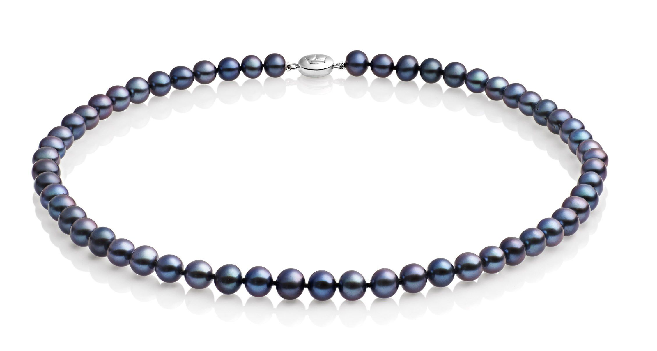 jersey pearl black medium pearl necklace