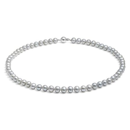 Jersey Pearl Silver medium pearl necklace