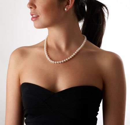 Jersey Pearl White Pearl Necklace
