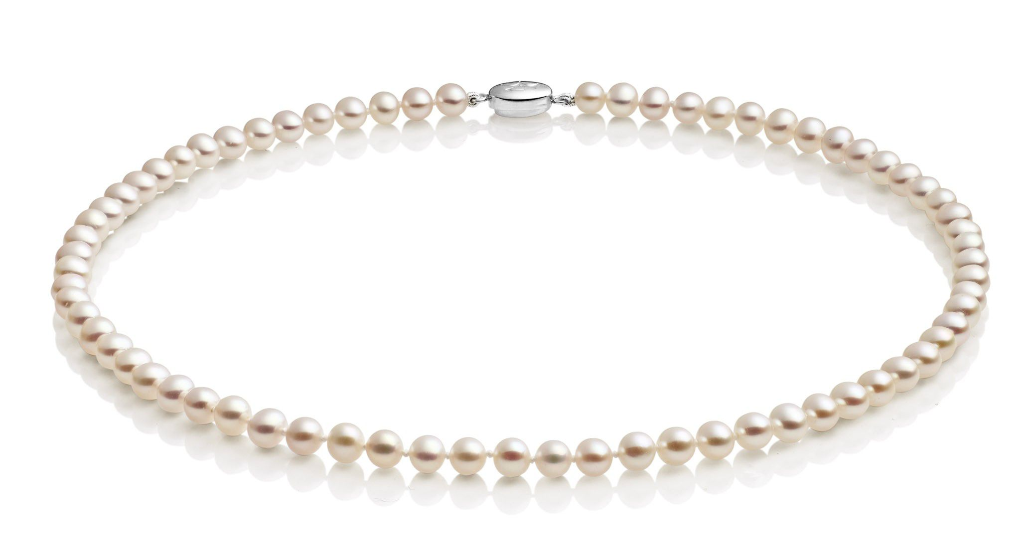 Jersey Pearl Jersey Pearl White small pearl necklace, Silver