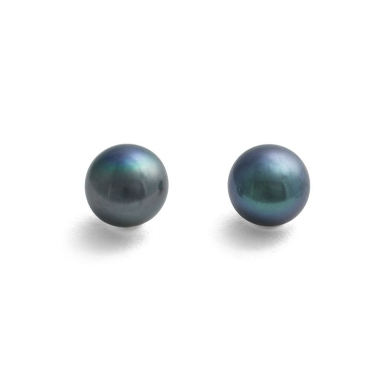 Large Black Pearl Earrings