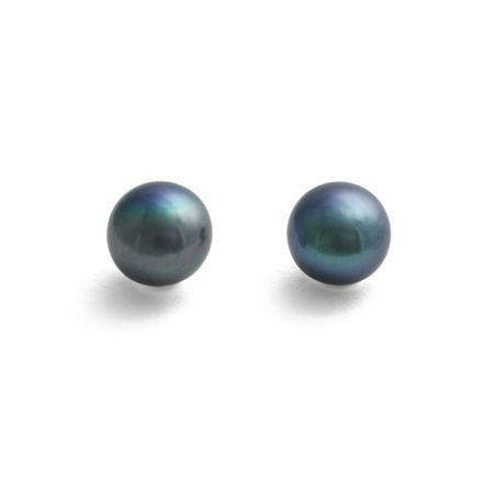 Jersey Pearl Large Black Pearl Earrings